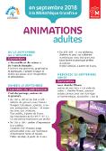 Animations pour adultes - Bibliothèque Grand-Rue