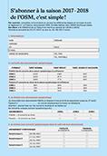 Formulaire d'abonnement OSM saison 2017-2018