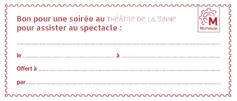 Bon cadeau Théâtre de la Sinne