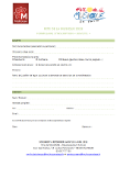 Formulaire d'inscription à la fête de la musique (buvette)
