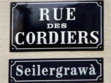 Rue des Cordiers // Seilergrawà  -