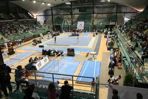 Palais des sports, intérieur