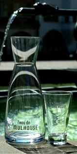 Carafe et eau de Mulhouse