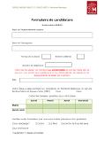 Espaces Verts : formulaire de candidature 2018