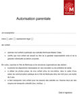 Autorisation parentale Mulhouse Master Class