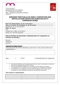 Demande de mise à disposition ponctuelle d'équipement
