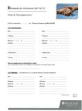 Formulaire d'inscription au Pacs