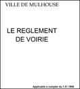 Réglement de voirie de la Ville de Mulhouse