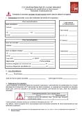 Formulaire d'occupation temporaire du domaine public