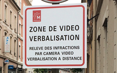 Panneau de vidéo verbalisation