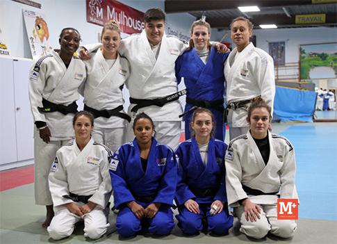 Les judokates mulhousiennes médaillées
