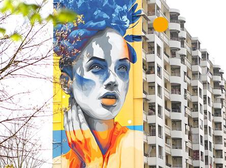 Street-art : la fresque de Dourone aux Coteaux - Quartier
