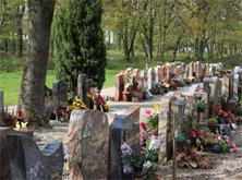 Les cimetières mulhousiens - Sépulture