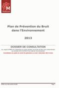 Plan de prévention du bruit dans l'environnement 2013