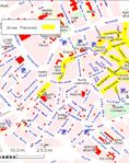 Plan des zones piétonnes à Mulhouse