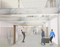 Vue intérieure du nouveau conservatoire - crédit TAO Architecte