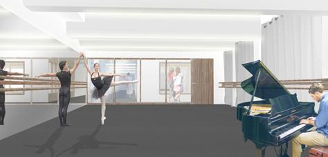 Studio de danse - Crédit TAO Architecte