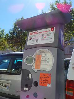 Paiment du stationnement avec son mobile