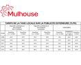 Barême de la taxe locale sur la publicité extérieure de 2009 à 2013