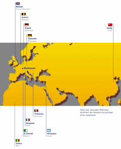Carte des relations de jumelage et de coopération