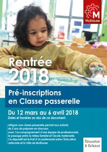 Pré-inscriptions en Classe passerelle - 2018