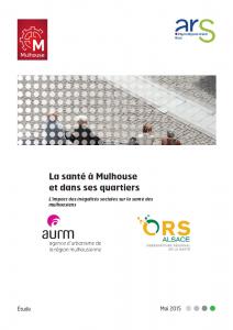 Rapport de l'Observatoire local de santé - 2015