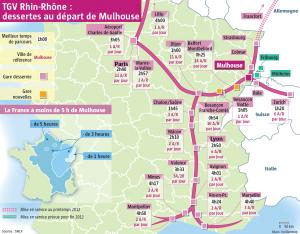 TGV Rhin Rhône : desserte et temps de parcours