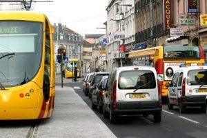 Circulation dans l'hyper-centre de Mulhouse