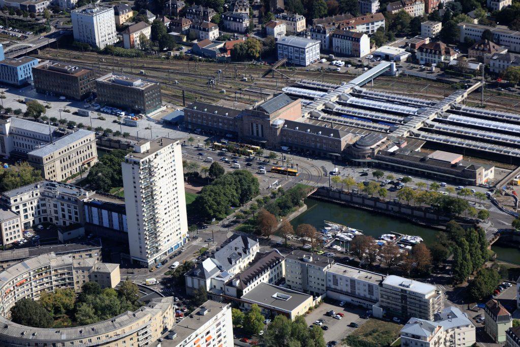 Quartier gare, vue aérienne (crédits : 4 vents)