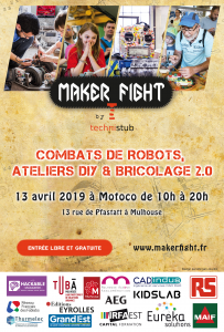 Affiche Makerfight 2019 de Mulhouse
