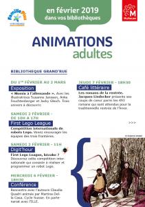 Agenda des bibliothèques - Adultes - Février 2019
