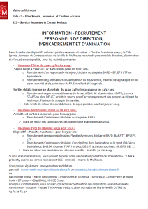 Annonce recrutement - dispositifs loisirs 2019