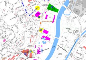 Plan parkings Tour de France à Mulhouse