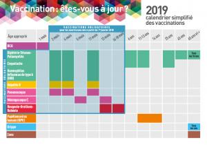calendrier vaccinal simplifié 2019