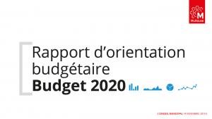 Rapport d'orientation budgétaire 2020