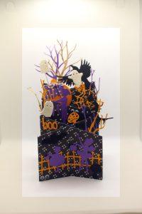 carte avec des symboles d'halloween
